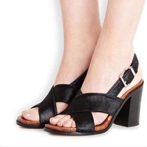 Sam Edelman Ivy Block Heel Leather Sandals 8.5 GUC